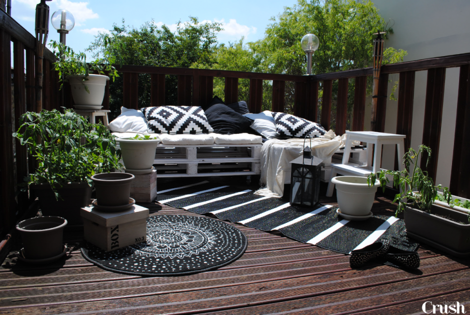 astuces d co pour une terrasse. Black Bedroom Furniture Sets. Home Design Ideas