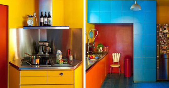 Belle d co cuisine color e for Deco cuisine coloree