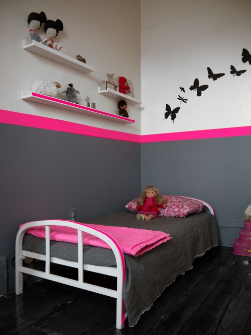 belle d coration chambre gris et rose. Black Bedroom Furniture Sets. Home Design Ideas