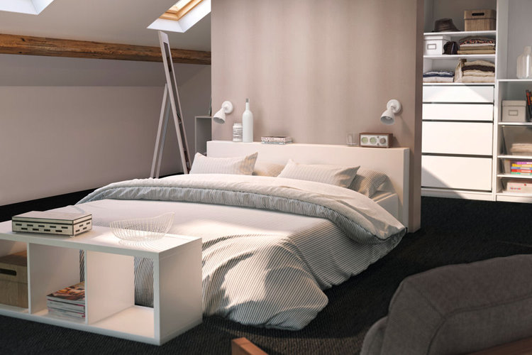D co chambre parentale avec dressing for Idee deco chambre suite parentale