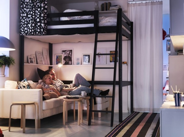 conseils d co petite chambre avec mezzanine. Black Bedroom Furniture Sets. Home Design Ideas