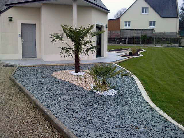 Am nagement d co jardin ardoise for Amenagement deco jardin
