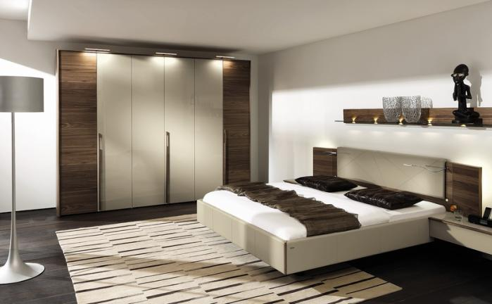 chambre design marron blanc. Black Bedroom Furniture Sets. Home Design Ideas