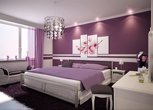 astuces d coration chambre violet et gris. Black Bedroom Furniture Sets. Home Design Ideas