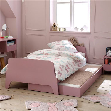 chantier d co chambre vieux rose et gris. Black Bedroom Furniture Sets. Home Design Ideas