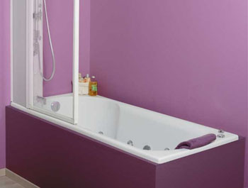 chantier d co salle de bain violet. Black Bedroom Furniture Sets. Home Design Ideas