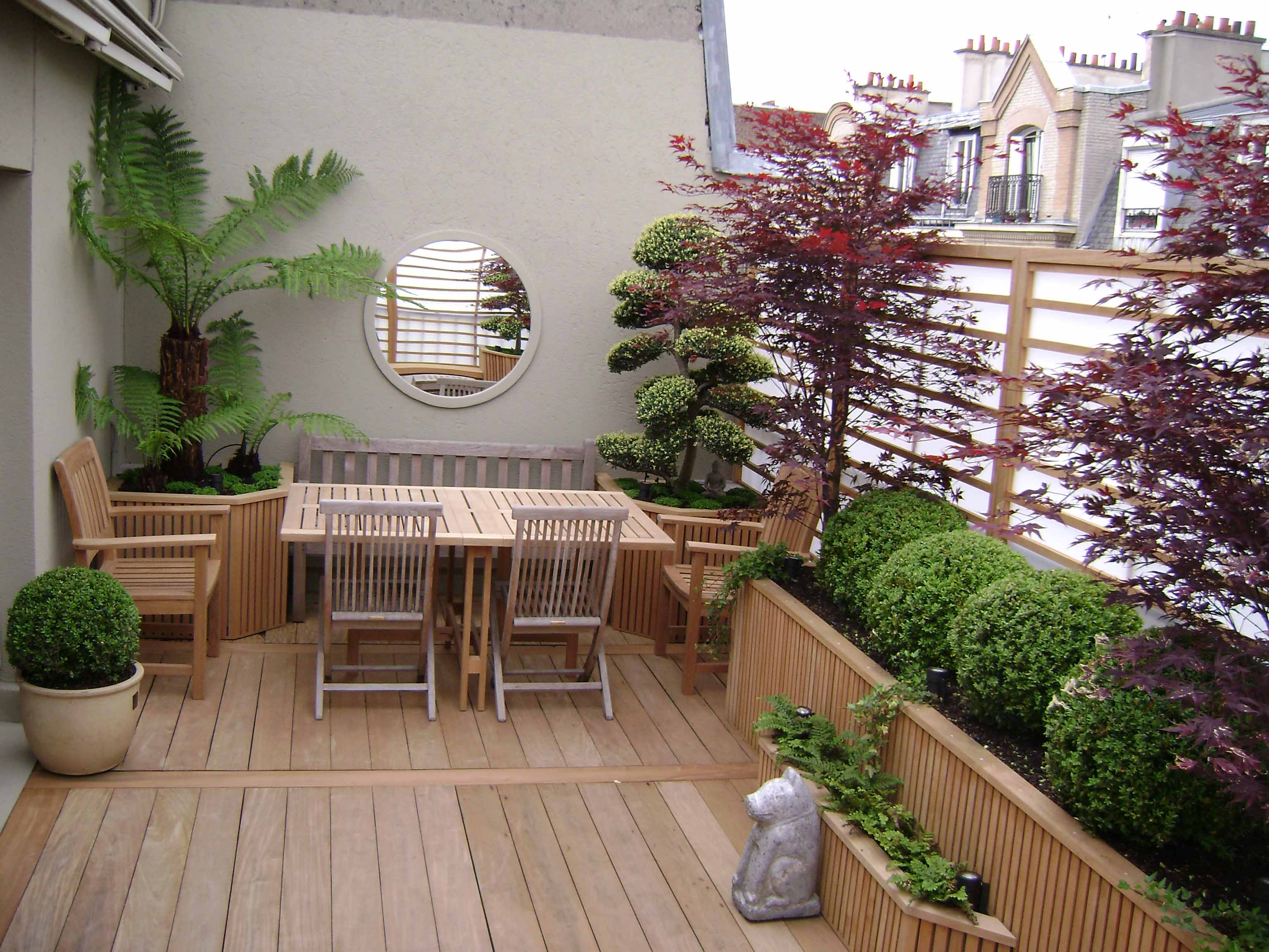 D coration sur terrasse for Decoration terrasse exterieure moderne