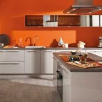 D co cuisine orange et marron for Deco cuisine marron