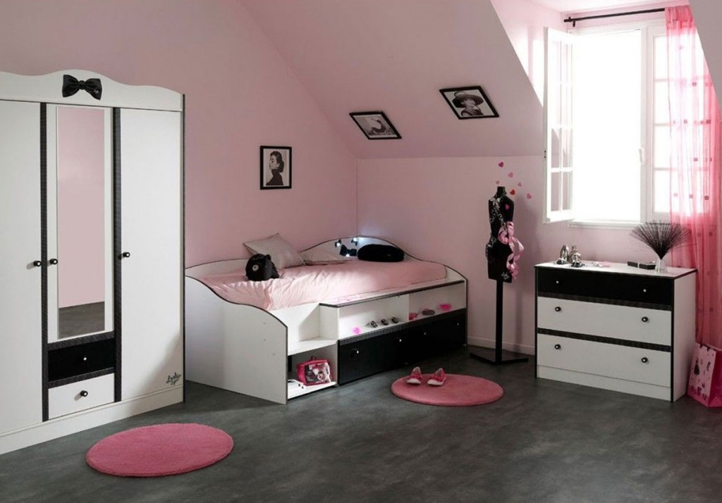 chantier d co chambre ado fille. Black Bedroom Furniture Sets. Home Design Ideas