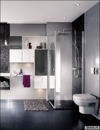 chantier d co salle de bain douche italienne. Black Bedroom Furniture Sets. Home Design Ideas