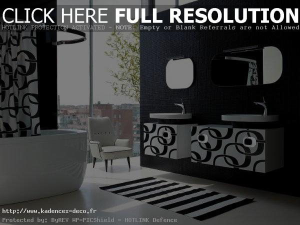 d coration salle de bain noir et blanc. Black Bedroom Furniture Sets. Home Design Ideas