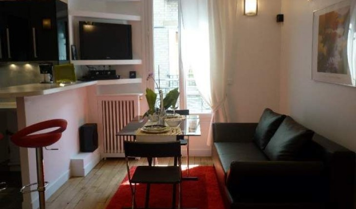 Appartement rouge for Deco appartement 42m2