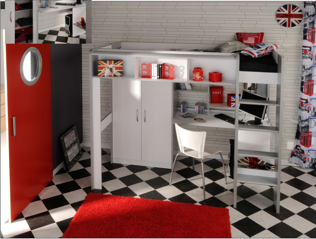 lit mezzanine bureau ado affordable mezzanine sylvia with. Black Bedroom Furniture Sets. Home Design Ideas