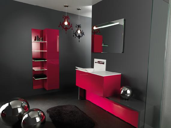 d co chambre fushia et gris. Black Bedroom Furniture Sets. Home Design Ideas