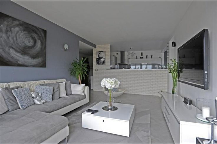 D coration salon gris et blanc actuelle for Deco actuelle salon