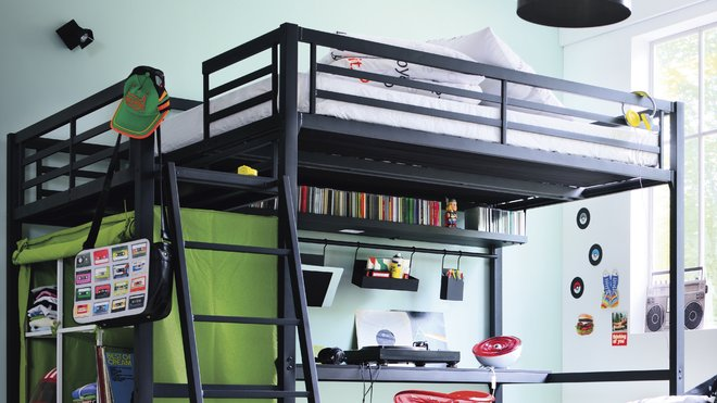 id e d co chambre ado lit mezzanine. Black Bedroom Furniture Sets. Home Design Ideas