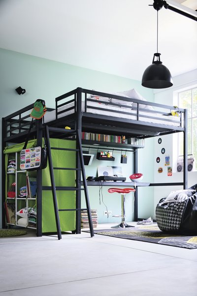 d co chambre avec lit mezzanine. Black Bedroom Furniture Sets. Home Design Ideas