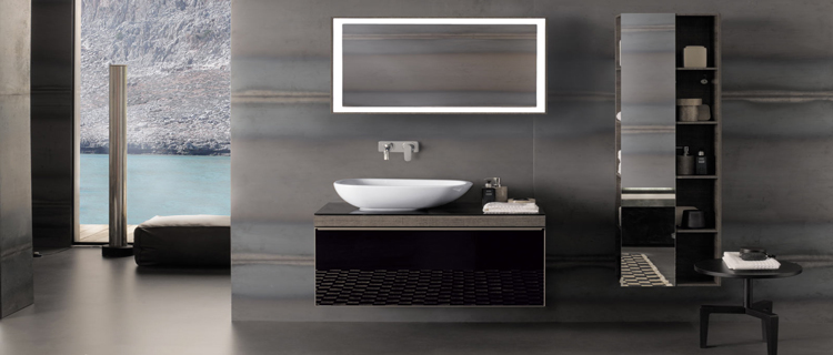 photo d co salle de bain noir et gris. Black Bedroom Furniture Sets. Home Design Ideas