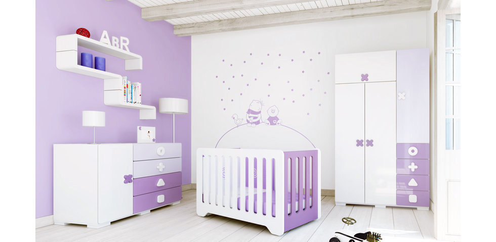 d co chambre enfant violet. Black Bedroom Furniture Sets. Home Design Ideas