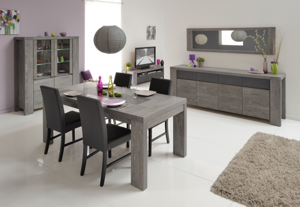 d co salle a manger en gris. Black Bedroom Furniture Sets. Home Design Ideas
