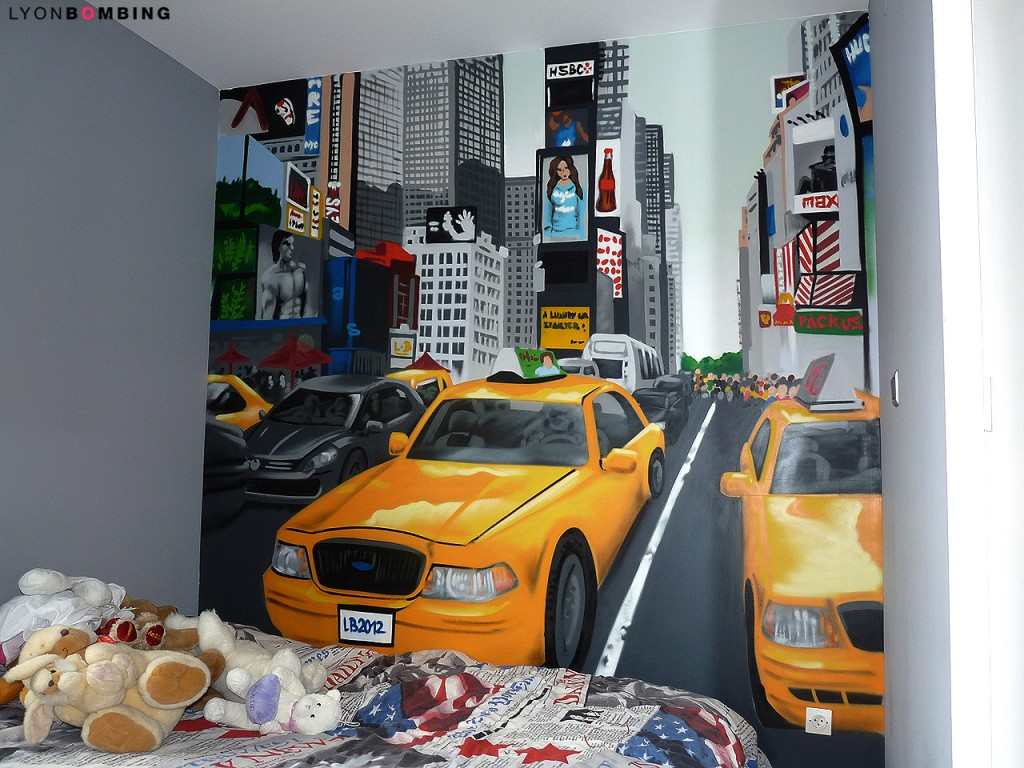 D coration chambre th me new york la mode for Decoration maison new york