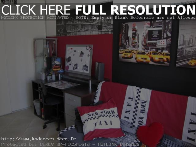 Id e d coration chambre th me new york - Idee deco chambre new york ...
