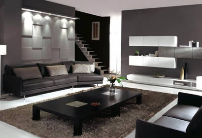 chantier d coration salon en l. Black Bedroom Furniture Sets. Home Design Ideas