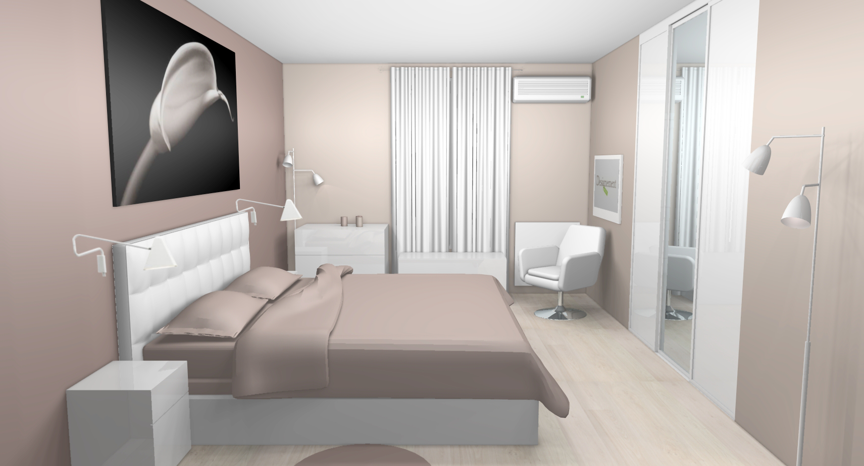 dcoration chambre blanc et taupe - Chambre Taupe Et Beige