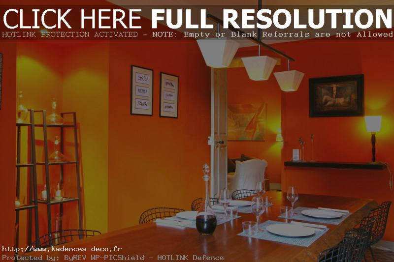 Inspiration d coration cuisine orange for Element de decoration salon
