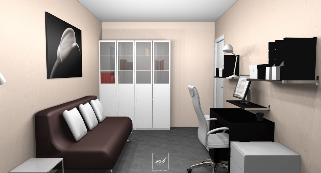 Am nagement d co bureau chambre d 39 amis - Amenagement petit bureau ...