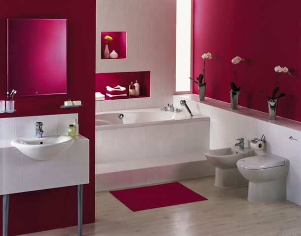 conseils d co salle de bain rose. Black Bedroom Furniture Sets. Home Design Ideas