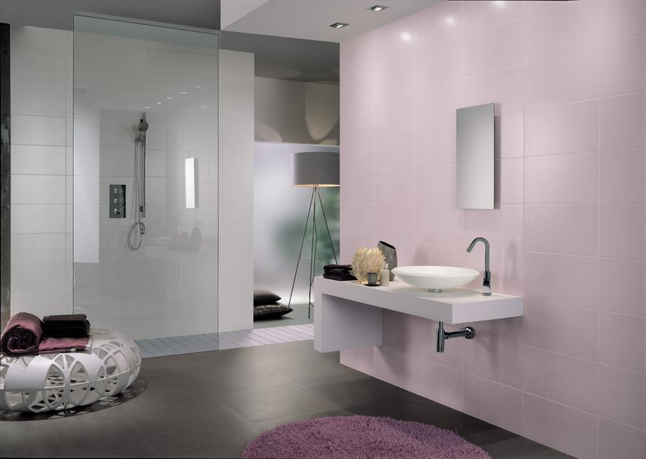 am nagement d co salle de bain rose et gris. Black Bedroom Furniture Sets. Home Design Ideas