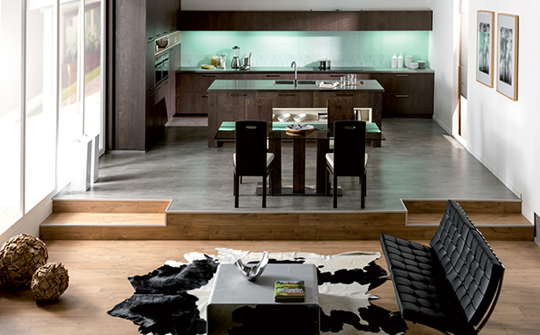 chantier d co cuisine ouverte sur salon. Black Bedroom Furniture Sets. Home Design Ideas