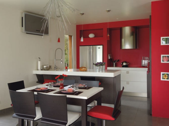 D co cuisine ouverte sur salon for Deco appartement en l
