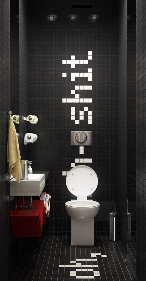 Id e d coration wc design for Decoration toilettes design