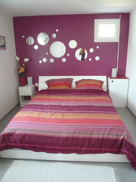 am nagement d coration chambre adulte violet. Black Bedroom Furniture Sets. Home Design Ideas
