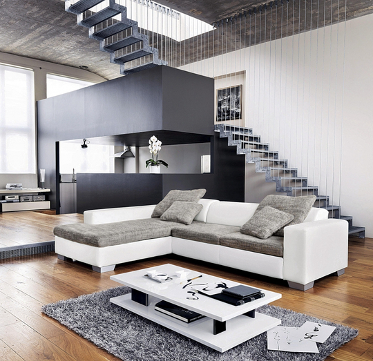 d co salon gris et blanc. Black Bedroom Furniture Sets. Home Design Ideas