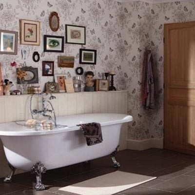 deco salle de bain vintage. Black Bedroom Furniture Sets. Home Design Ideas