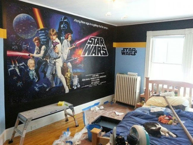 chantier d co chambre star wars. Black Bedroom Furniture Sets. Home Design Ideas