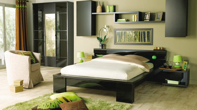 d coration chambre style zen. Black Bedroom Furniture Sets. Home Design Ideas