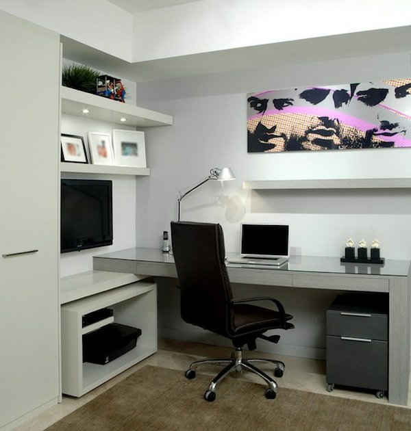 astuces d co bureau design contemporain. Black Bedroom Furniture Sets. Home Design Ideas
