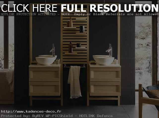 d co salle de bain zen bois. Black Bedroom Furniture Sets. Home Design Ideas